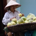 Woman selling fruit - Ha Noi