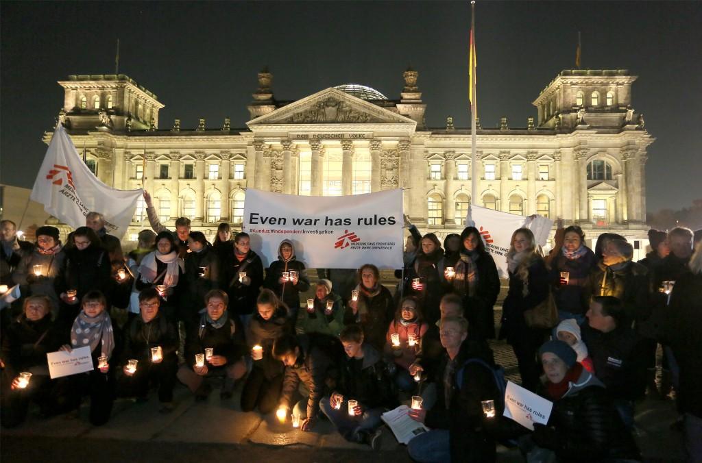 3 November Kundus commemoration in front of the German Parliament (Reichstag) in Berlin.